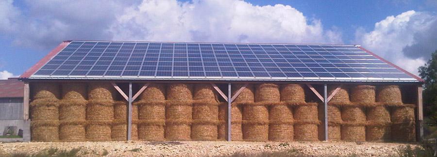 Solesens installation panneaux solaires panneaux photovolta ques orne mayenne sarthe - Hangar photovoltaique agricole ...